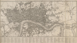 Plan of the cities of London and Westminster, with the borough of Southwark exhibiting the new buildings to the present year MDCCCVI
